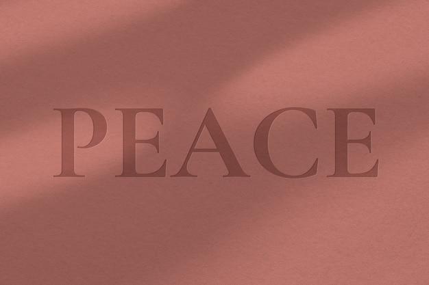 Edytowalny szablon psd z wytłoczonym efektem tekstowym na odwrocie tekstury papieru