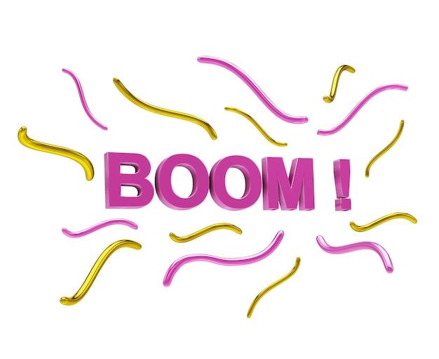 Efekt dźwiękowy sformułowania boom, renderowanie 3d, ilustracja