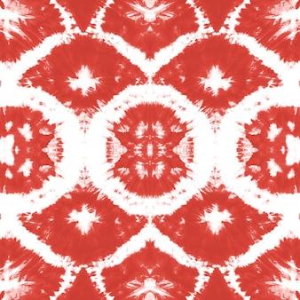 Efekt płynnej akwareli. czerwony boho malarstwo abstrakcyjne. wzór krawat barwnika.