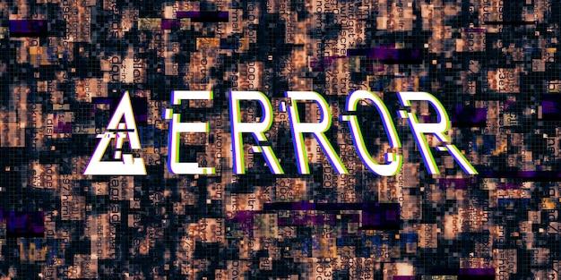 Efekt usterki symbole zagrożenia komputerowego błędy hakerów cyberpunk design s cyfrowe piksele