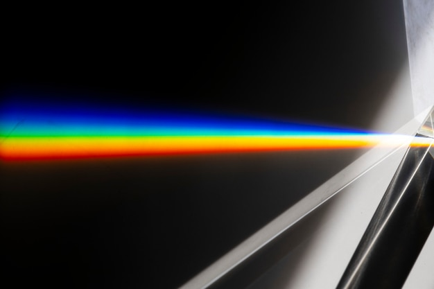 Efekt wycieku światła na czarnym tle tapety