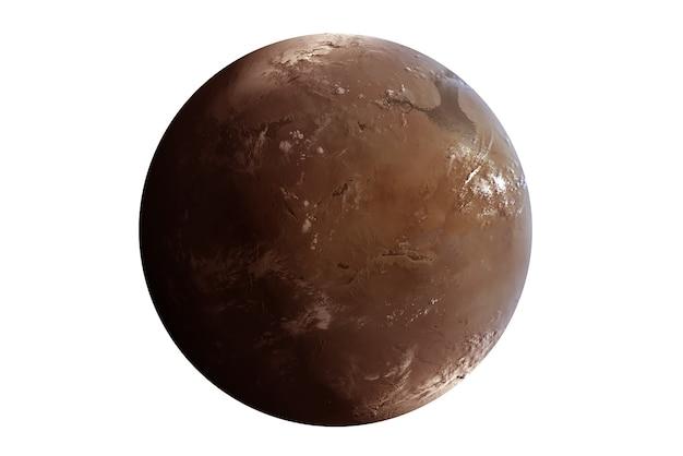 Egzoplaneta na białym tle elementy tego obrazu zostały dostarczone przez nasa