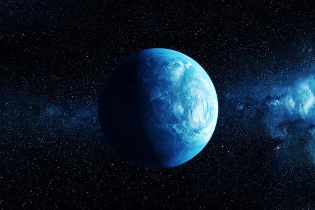Egzoplaneta podobna do ziemi. elementy tego obrazu dostarczyła nasa. zdjęcie wysokiej jakości