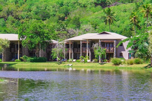 Egzotyczny kurort w tropikalnym kraju seyshelles
