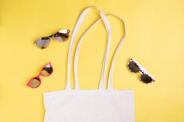 Eko-biała torba tekstylna, zero strat. bawełna ekologiczna