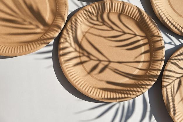 Ekologiczna jednorazowa papierowa zastawa stołowa