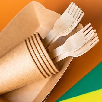 Ekologiczna zastawa stołowa ze skrobi bioorganicznej jednorazowe pojemniki na fast food zero waste