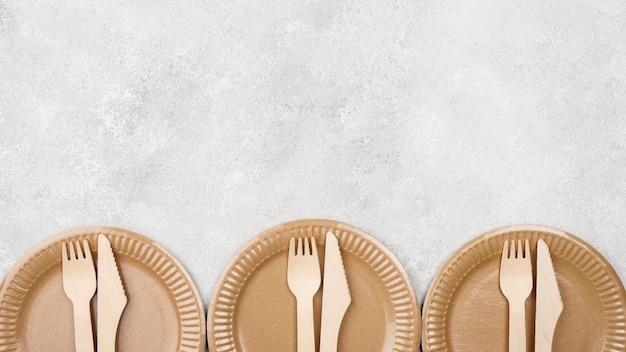 Ekologiczne miejsce na jednorazową zastawę stołową