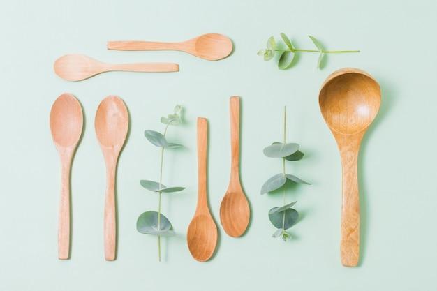 Ekologiczne produkty na zielonym tle