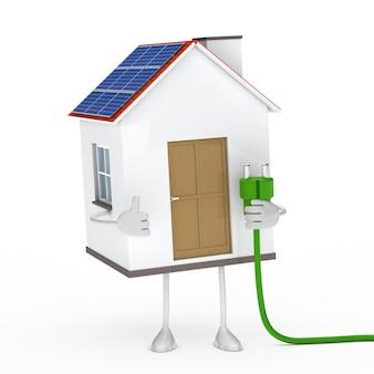 Ekologiczny dom z przewodem zielonym