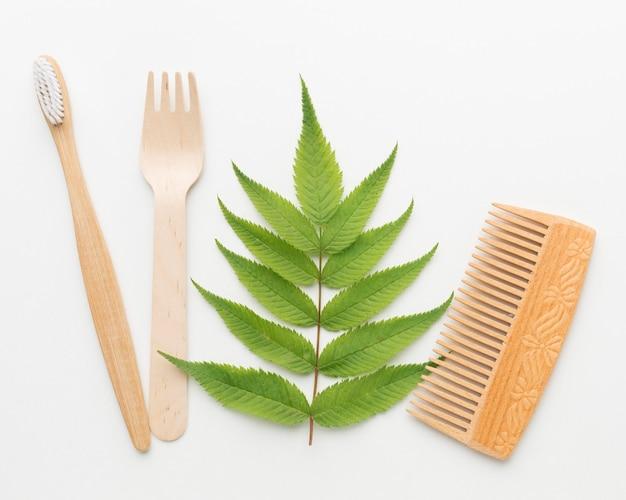 Ekologiczny grzebień i szczoteczka do zębów