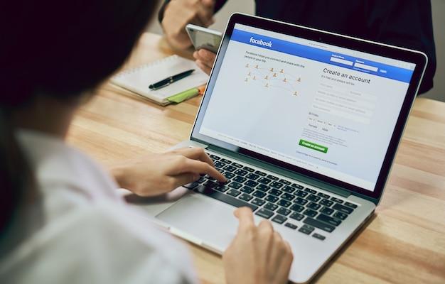 Ekran logowania ikony facebooka