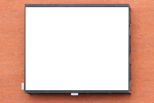 Ekran reklamowy duża wisząca ściana budynku