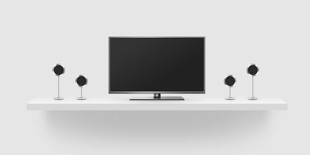 Ekran telewizora na stojaku