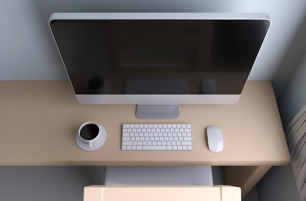 Ekran wyświetlacza komputera. ilustracja 3d
