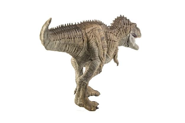 Ekrixinatosaurus epitafium dinozaur na białym tle.
