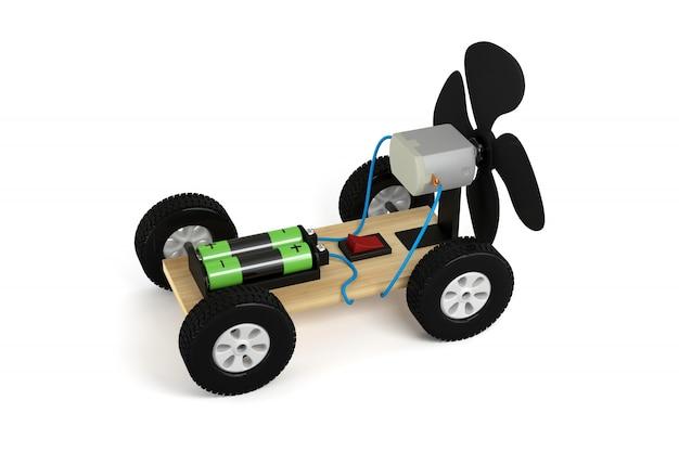 Eksperyment z samochodem śmigłowym.