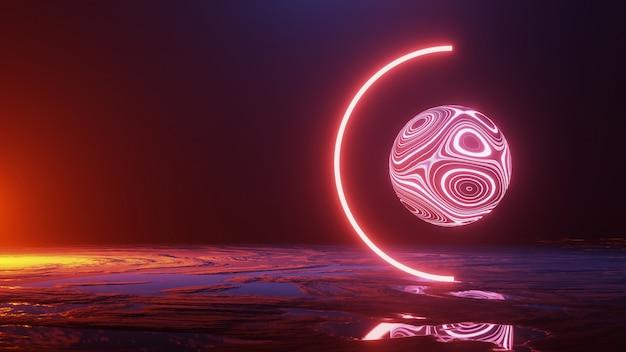 Eksploracja powierzchni planety, podróży kosmicznej, koncepcji wszechświata, renderowania 3d