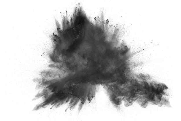 Eksplozja czarnego proszku.