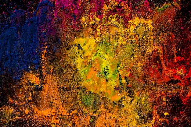 Eksplozja mieszanych jasnych kolorów holi