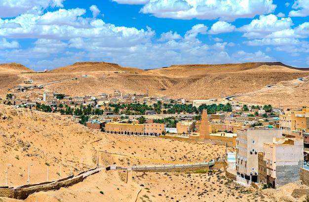 El atteuf, starożytne miasto berberyjskie w dolinie m'zab w algierii