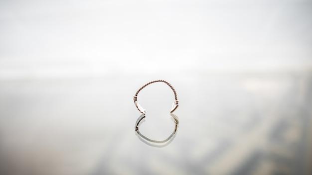 Elastyczne pierścienie szklane vintage sztuka łańcuchowa