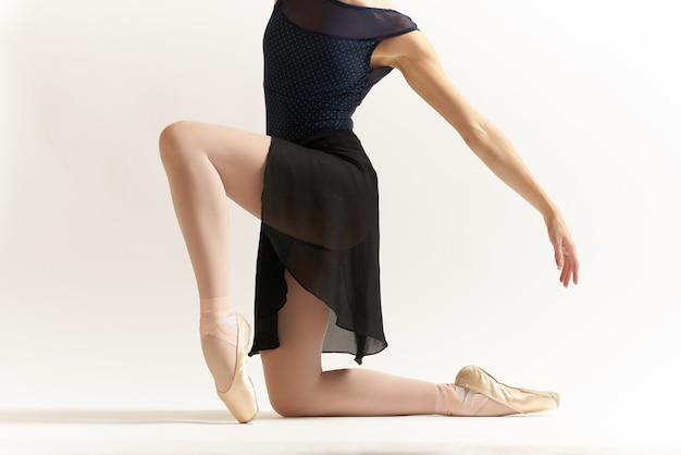 Elegancka balerina w czarnej sukience