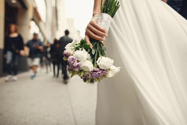 Elegancka para ślubu