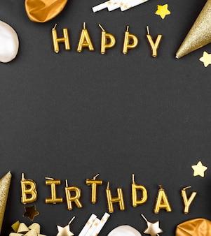 Elegancka rama ozdoby urodzinowe