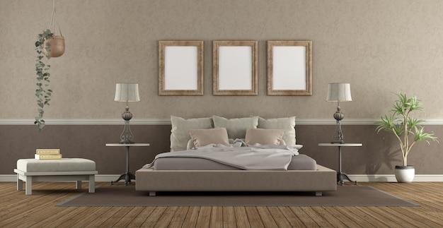 Elegancka sypialnia główna w stylu klasycznym