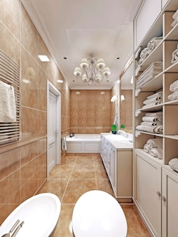 Elegancki projekt łazienki w prowansji.