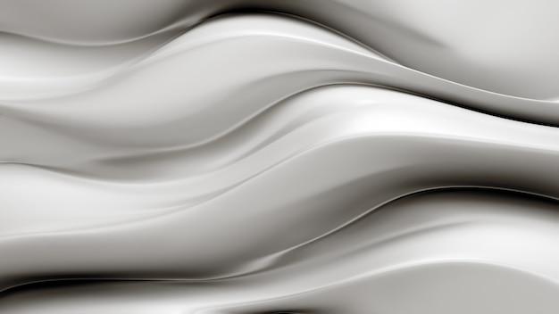 Eleganckie białe tło z falującymi tkaninami. 3d ilustracji
