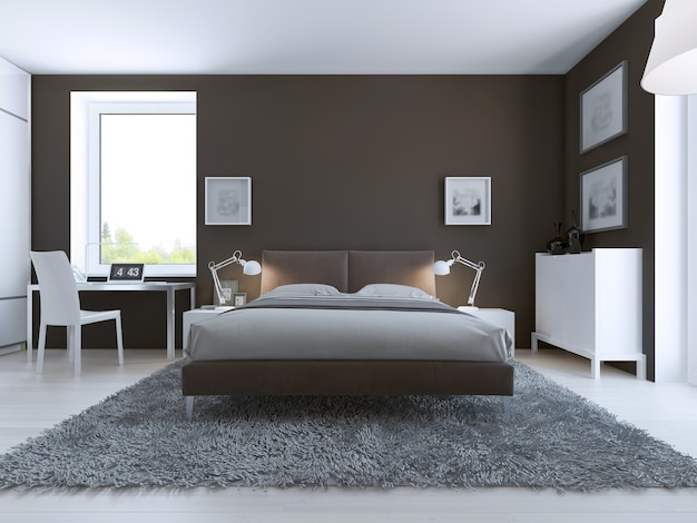 Eleganckie wnętrze sypialni