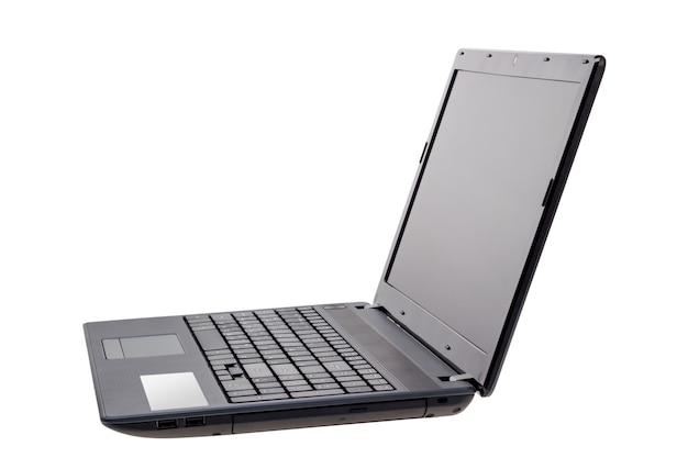 Elektroniczna kolekcja - nowoczesny laptop na białym tle