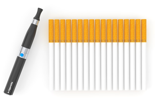 Elektroniczny papieros na białym tle