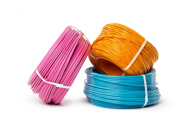 Elektryczny kabla, energii i technologii wyposażenie odizolowywający na bielu