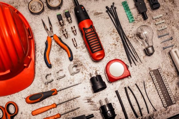 Elektryk narzędzia tło