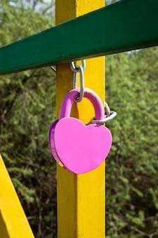 Element projektu. obraz blokady miłości