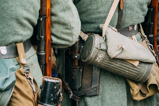 Elementy wyposażenia niemieckiego żołnierza
