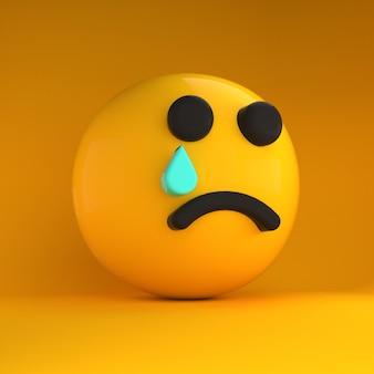 Emotikony 3d bardzo smutne