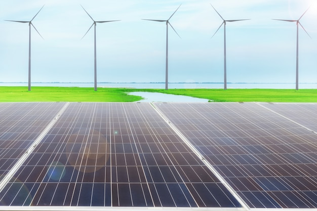 Energia elektryczna, koncepcja czystej energii.