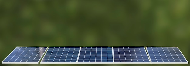 Energia odnawialna paneli słonecznych