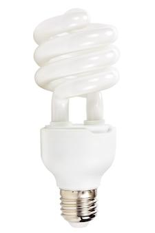 Energooszczędna lampa na białym tle