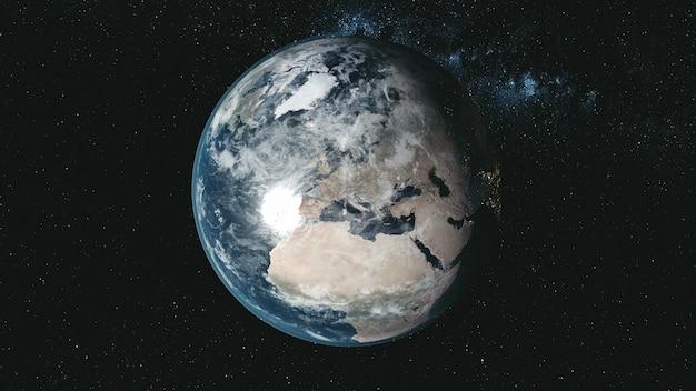Epicki spin planeta ziemia galaktyka nocny widok satelitarny