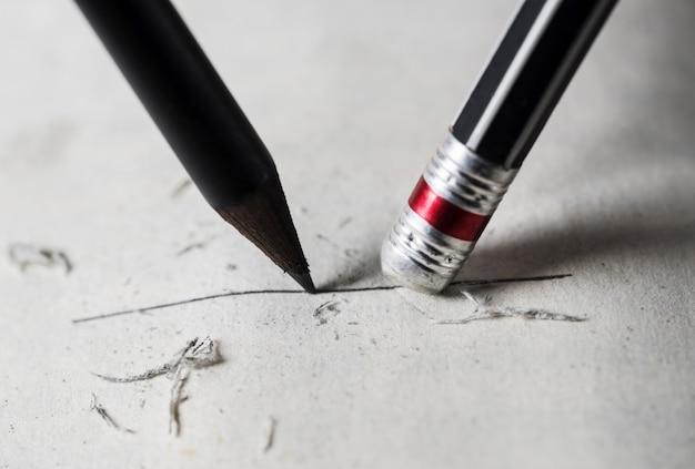 Eraser i błąd i wyostrzyć koncepcji
