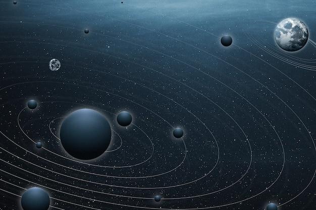 Estetyczna planeta oceanu w tle galaktyki i remiksu natury