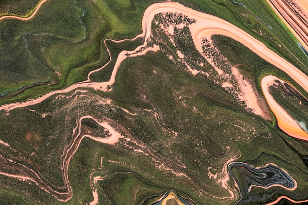 Estetyczne płynne marmurowe zielone tło diy eksperymentalna sztuka