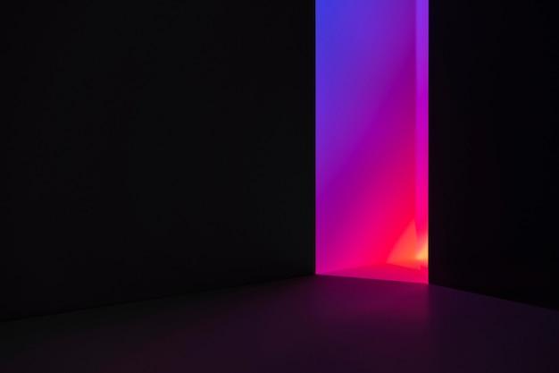 Estetyczne tło z abstrakcyjnym efektem neonowego światła led
