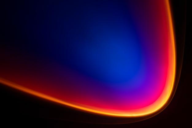 Estetyczne tło z gradientową lampą do projektora o zachodzie słońca
