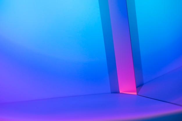 Estetyczne tło z lampą do projektora o zachodzie słońca